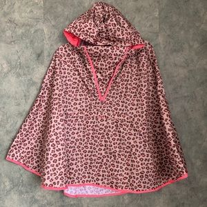 Lands End Peach Leopard Rain Cape